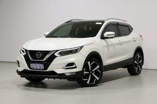 2018 Nissan Qashqai J11 MY18 TI White Continuous Variable Wagon.