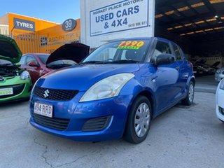 2011 Suzuki Swift FZ GA Blue 5 Speed Manual Hatchback.