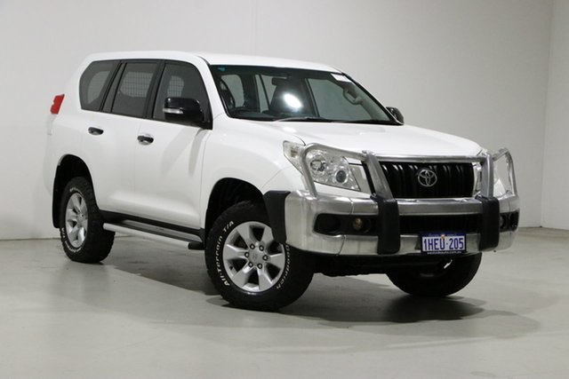 Used Toyota Landcruiser Prado KDJ150R 11 Upgrade GX (4x4) Bentley, 2012 Toyota Landcruiser Prado KDJ150R 11 Upgrade GX (4x4) White 6 Speed Manual Wagon