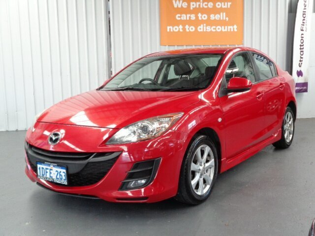 Used Mazda 3 BK10F2 MY08 Maxx Sport Rockingham, 2009 Mazda 3 BK10F2 MY08 Maxx Sport Red 4 Speed Sports Automatic Sedan