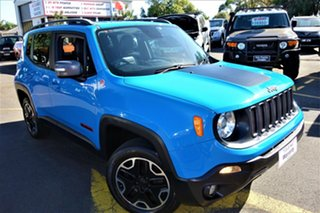 2015 Jeep Renegade BU MY16 Trailhawk AWD Blue 9 Speed Sports Automatic Hatchback.