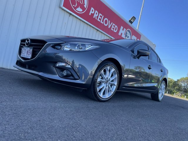 Used Mazda 3 BM5238 SP25 SKYACTIV-Drive Bundaberg, 2015 Mazda 3 BM5238 SP25 SKYACTIV-Drive Grey 6 Speed Sports Automatic Sedan