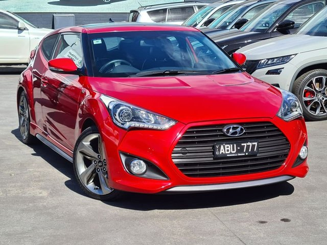 Used Hyundai Veloster FS3 SR Coupe Turbo Seaford, 2014 Hyundai Veloster FS3 SR Coupe Turbo Red 6 Speed Sports Automatic Hatchback