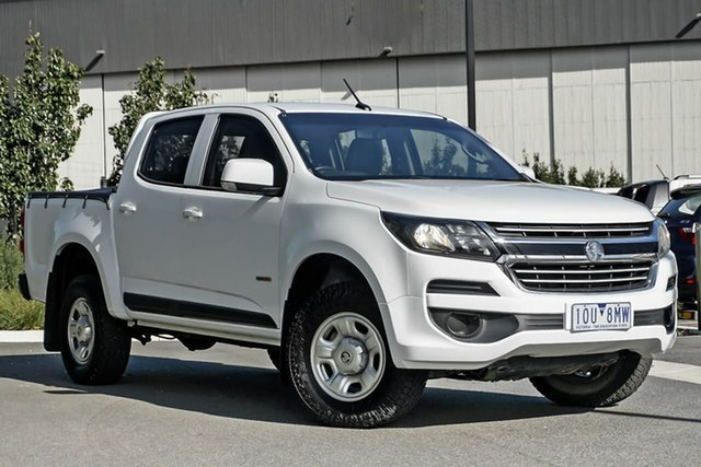 Used Holden Colorado RG MY17 LS Pickup Crew Cab Essendon Fields, 2017 Holden Colorado RG MY17 LS Pickup Crew Cab White 6 Speed Sports Automatic Utility