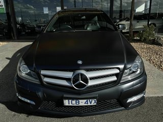 2011 Mercedes-Benz C350 W204 MY11 BE Black 7 Speed Automatic G-Tronic Coupe.