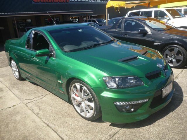 Used Holden Special Vehicles Maloo E Series 3 R8 Morayfield, 2011 Holden Special Vehicles Maloo E Series 3 R8 Green 6 Speed Sports Automatic Utility