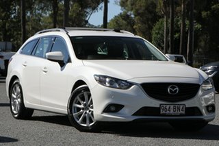 2013 Mazda 6 GJ1021 Touring SKYACTIV-Drive White 6 Speed Sports Automatic Wagon.