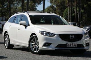 2013 Mazda 6 GJ1021 Touring SKYACTIV-Drive White 6 Speed Sports Automatic Wagon.