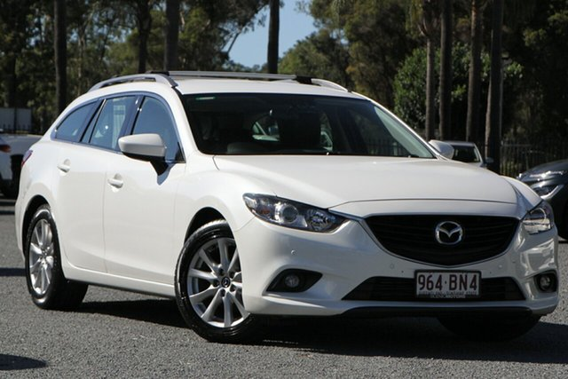 Used Mazda 6 GJ1021 Touring SKYACTIV-Drive Beaudesert, 2013 Mazda 6 GJ1021 Touring SKYACTIV-Drive White 6 Speed Sports Automatic Wagon