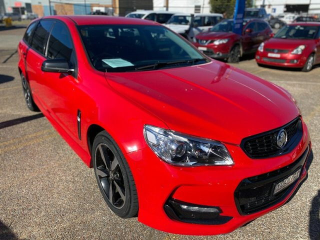 Used Holden Commodore VF II MY16 SV6 Sportwagon Black Wickham, 2016 Holden Commodore VF II MY16 SV6 Sportwagon Black Red 6 Speed Sports Automatic Wagon