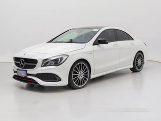 2019 Mercedes-Benz CLA250 117 MY18.5 Sport 4Matic White 7 Speed Auto Dual Clutch Coupe.