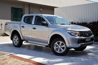 2016 Mitsubishi Triton MQ MY17 GLX Double Cab Sterling Silver 6 Speed Manual Utility.