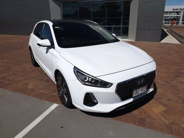 Used Hyundai i30 GD3 Series II MY17 Premium DCT Toowoomba, 2017 Hyundai i30 GD3 Series II MY17 Premium DCT White 7 Speed Sports Automatic Dual Clutch Hatchback