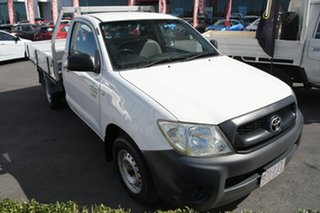 2009 Toyota Hilux TGN16R MY09 Workmate 4x2 White 5 Speed Manual Cab Chassis.