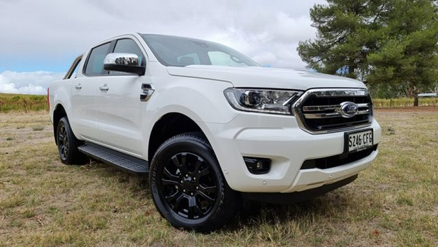 Used Ford Ranger PX MkIII 2020.25MY XLT Hi-Rider Nuriootpa, 2020 Ford Ranger PX MkIII 2020.25MY XLT Hi-Rider White 10 Speed Sports Automatic Double Cab Pick Up