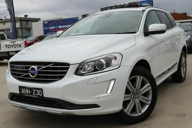Used Volvo XC60 DZ MY16 T5 Geartronic Luxury Coburg North, 2016 Volvo XC60 DZ MY16 T5 Geartronic Luxury White 8 Speed Sports Automatic Wagon