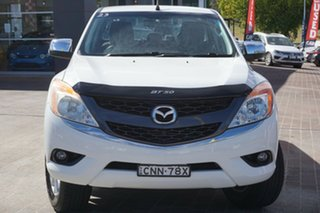 2013 Mazda BT-50 UP0YF1 XTR 4x2 Hi-Rider White 6 Speed Sports Automatic Utility.