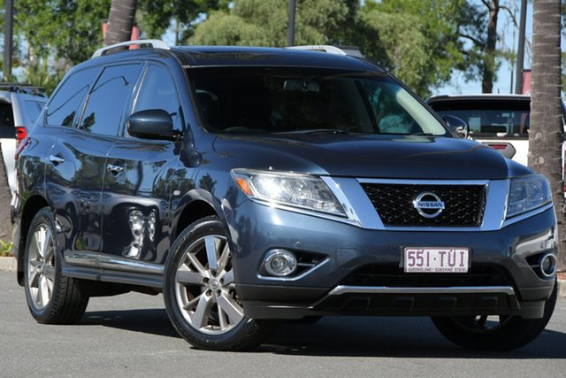 Used Nissan Pathfinder R52 MY14 Ti X-tronic 2WD North Lakes, 2014 Nissan Pathfinder R52 MY14 Ti X-tronic 2WD Blue 1 Speed Constant Variable Wagon