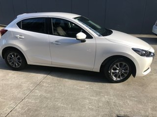 2021 Mazda 2 DJ2HA6 G15 SKYACTIV-MT Pure Snowflake White 6 Speed Manual Hatchback