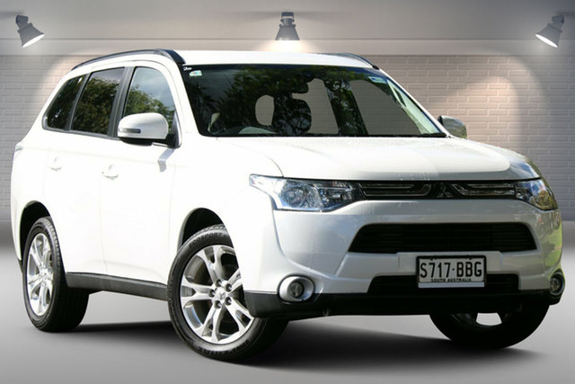 Used Mitsubishi Outlander ZJ MY13 LS 2WD Nailsworth, 2013 Mitsubishi Outlander ZJ MY13 LS 2WD White 6 Speed Constant Variable Wagon