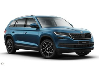 2021 Skoda Kodiaq NS MY21 132TSI DSG Blue 7 Speed Sports Automatic Dual Clutch Wagon.
