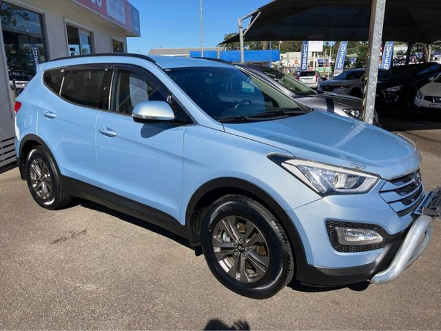 Used Hyundai Santa Fe DM2 MY15 Active North Gosford, 2014 Hyundai Santa Fe DM2 MY15 Active Blue 6 Speed Sports Automatic Wagon