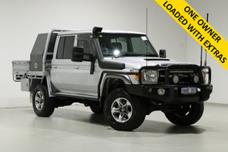 2014 Toyota Landcruiser VDJ79R MY12 Update GXL (4x4) Silver 5 Speed Manual Double Cab Chassis.