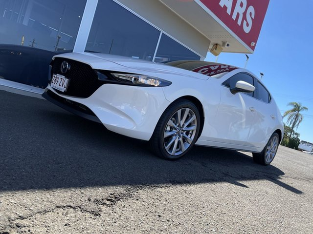 Used Mazda 3 BP2H76 G20 SKYACTIV-MT Evolve Bundaberg, 2019 Mazda 3 BP2H76 G20 SKYACTIV-MT Evolve White 6 Speed Manual Hatchback