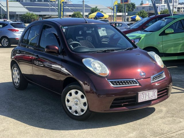 Used Nissan Micra K12 Chermside, 2008 Nissan Micra K12 Red 4 Speed Automatic Hatchback
