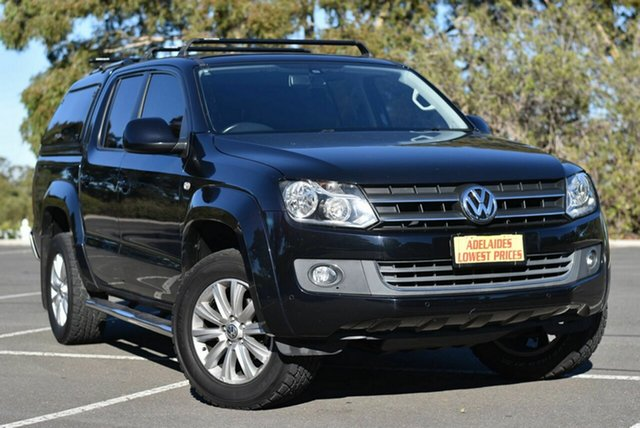 Used Volkswagen Amarok 2H MY14 TDI400 4Mot Highline Enfield, 2014 Volkswagen Amarok 2H MY14 TDI400 4Mot Highline Black 6 Speed Manual Utility
