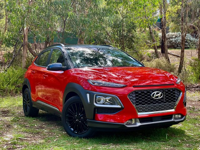 Used Hyundai Kona OS MY18 Elite D-CT AWD Reynella, 2017 Hyundai Kona OS MY18 Elite D-CT AWD Tangerine Comet 7 Speed Sports Automatic Dual Clutch Wagon
