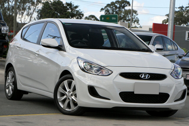 Used Hyundai Accent RB6 MY19 Sport Aspley, 2019 Hyundai Accent RB6 MY19 Sport White 6 Speed Sports Automatic Hatchback
