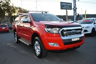2016 Ford Ranger PX MkII XLT Double Cab Red 6 Speed Sports Automatic Utility.