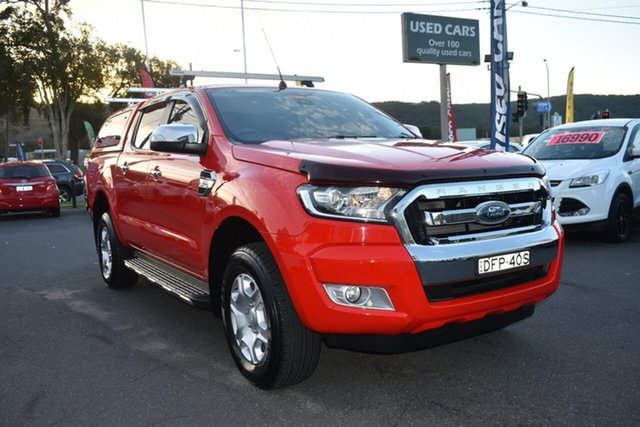 Used Ford Ranger PX MkII XLT Double Cab Gosford, 2016 Ford Ranger PX MkII XLT Double Cab Red 6 Speed Sports Automatic Utility
