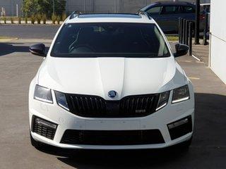 2019 Skoda Octavia NE MY20.5 RS DSG 245 White 7 Speed Sports Automatic Dual Clutch Wagon.