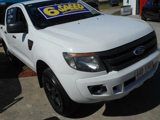 2012 Ford Ranger PX XL Hi-Rider White 6 Speed Manual Utility.