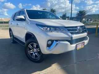 2017 Toyota Fortuner GUN156R GXL i-MT White/270317 6 Speed Manual Wagon.