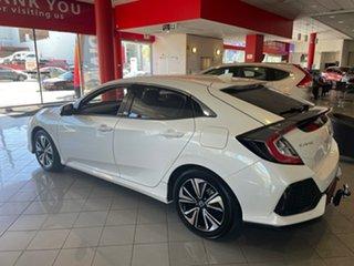 2019 Honda Civic 10th Gen MY18 VTi-LX White 1 Speed Constant Variable Hatchback