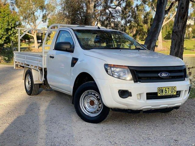 Used Ford Ranger PX XL Hi-Rider Wodonga, 2013 Ford Ranger PX XL Hi-Rider White 6 Speed Manual Cab Chassis