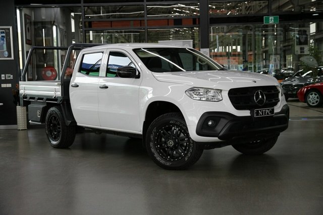 Used Mercedes-Benz X-Class 470 X250d 4MATIC Pure North Melbourne, 2018 Mercedes-Benz X-Class 470 X250d 4MATIC Pure White 7 Speed Sports Automatic Cab Chassis