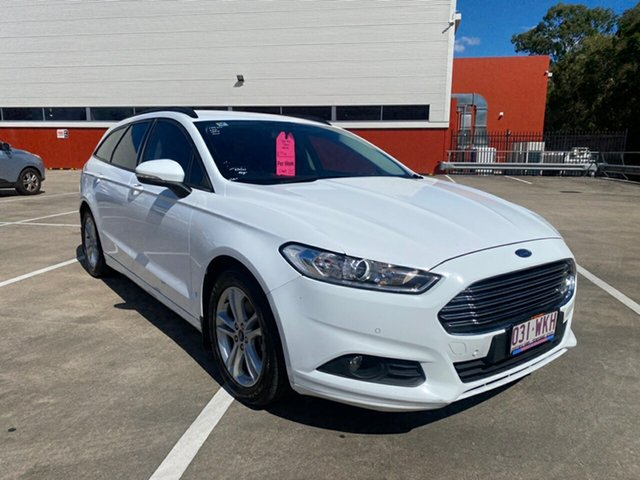 Used Ford Mondeo MD Ambiente TDCi Morayfield, 2015 Ford Mondeo MD Ambiente TDCi White 6 Speed Automatic Wagon