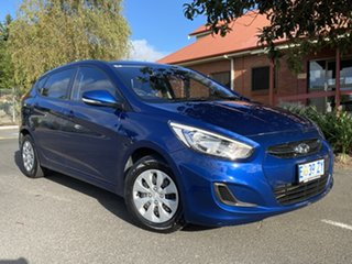 2015 Hyundai Accent RB3 MY16 Active Dazzling Blue 6 Speed Constant Variable Sedan.