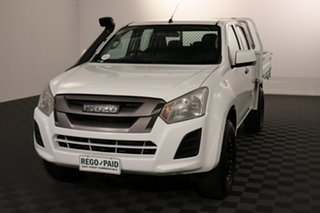 2019 Isuzu D-MAX MY18 SX Crew Cab White 6 speed Automatic Cab Chassis.