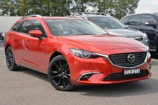 2015 Mazda 6 GJ1022 Atenza SKYACTIV-Drive Red 6 Speed Sports Automatic Wagon.
