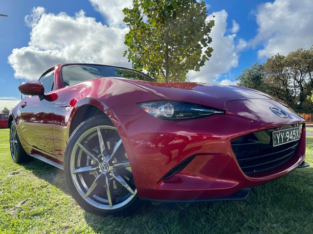 Used Mazda MX-5 ND GT RF SKYACTIV-Drive Hindmarsh, 2017 Mazda MX-5 ND GT RF SKYACTIV-Drive Soul Red 6 Speed Sports Automatic Targa