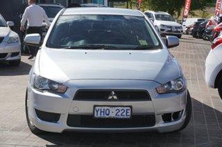 2010 Mitsubishi Lancer CJ MY10 ES Sportback Silver 5 Speed Manual Hatchback.