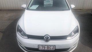 2015 Volkswagen Golf VII MY16 92TSI Trendline Pure White 6 Speed Manual Hatchback.