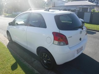 2009 Toyota Yaris NCP90R YR White 4 Speed Automatic Hatchback