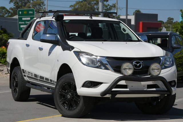 Used Mazda BT-50 UR0YF1 XTR Aspley, 2016 Mazda BT-50 UR0YF1 XTR White 6 Speed Sports Automatic Utility