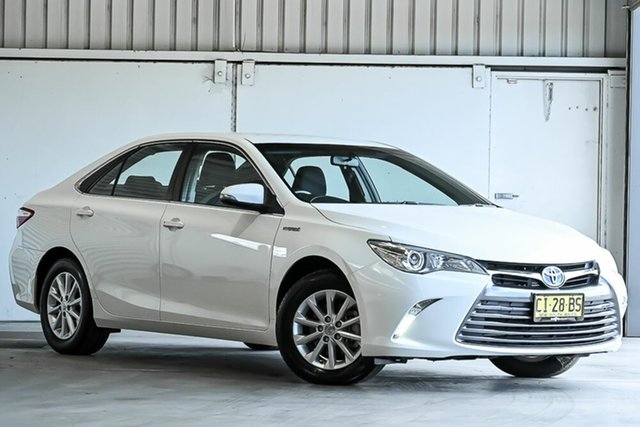 Used Toyota Camry AVV50R Altise Laverton North, 2016 Toyota Camry AVV50R Altise White 1 Speed Constant Variable Sedan Hybrid